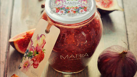 Regally Feminine Jam Jars - Maria Marmalade Sources from a Legend About Scotland