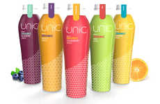 Fashionably Patterned Juice Bottles
