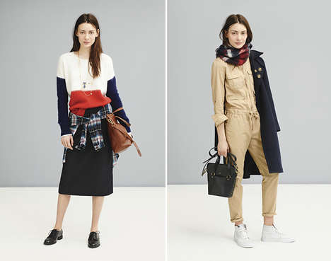 Sporty Autumn Casuals - Madewell Embraces Cozy Fall Fashions in Their Latest Catalog