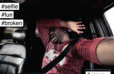 Driving Selfie Awareness Ads - These YASA Ads Show the Results of Taking a Selfie While Driving