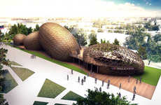 Seed-Inspired Pavilions