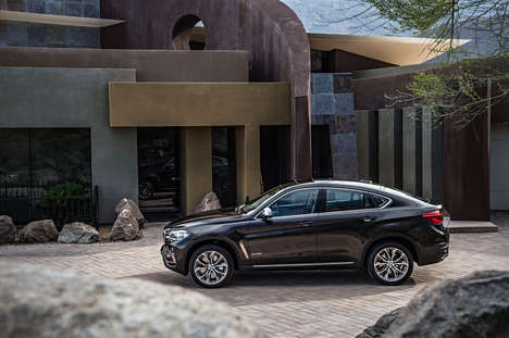 Wedge Shaped Autos - The BMW X6 2015 Crossover is a Sleek Edition