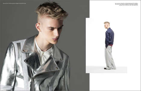 Luxe Leather-Clad Captures - Dominik Sadoch Stars in the He Editorial for K Mag