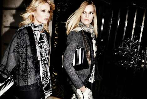Exotic Print Lookbooks - The Etro Fall/Winter 2014-2015 Campaign is Ultra Glam and Bohemian
