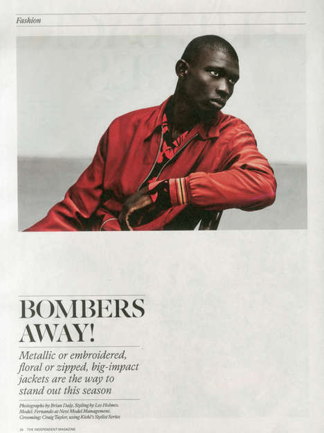 Edgy Collegiate Editorials - The Independent's Bombers Away Fashion Story is Youthfully Modern