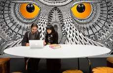 Owl-Centric Offices - The Hootsuite Office Takes Brand Identity into Account