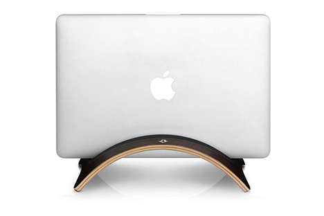 Arc Shaped Laptop Holders - This Handcrafted MacBook Stand From Twelve South Makes Design Accessible