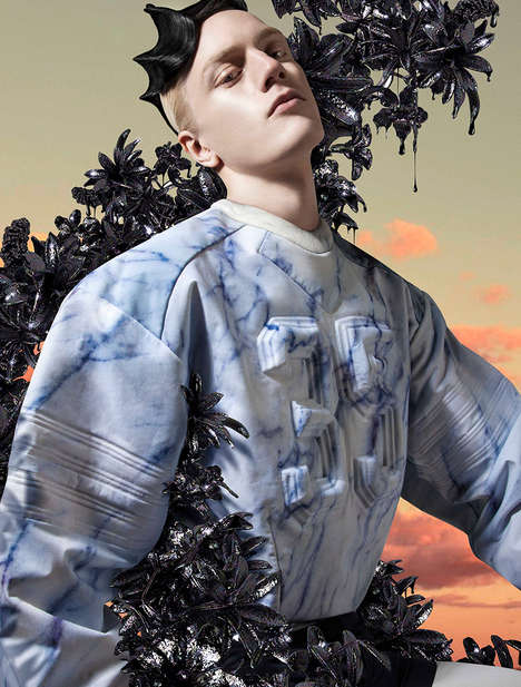 Neoteric Menswear Editorials - Metal Magazine's The Collections I Image Series is Conceptual