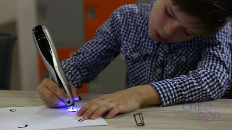 Ultraviolet 3D Pens - The Creopop 3D Pen Uses Ink That Solidifies When Exposed to Ultraviolet Light