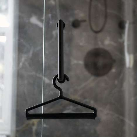 Shower Squeegee Hangers - This Multitasking Glass Cleaner Will Keep Your Shower Squeaky Clean