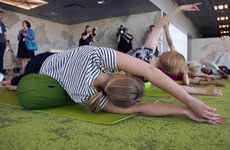 Airport Yoga Classes - The Helsinki Airport TravelLab Project Helps People Relax Pre-Flight