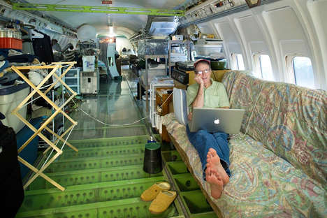Upcycled Airplane Homes - Bruce Campell's Boeing 727 Home Makes Living in an Airplane Seem Cozy