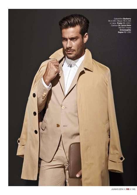 Luxe Creme-Colored Menswear - GQ Brazil