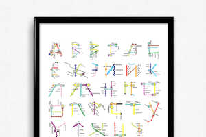 Pauline Detavernier Used European Transit to Create Colorful Alphabets