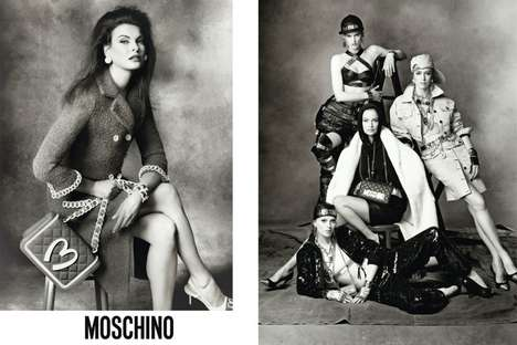 Iconic Monochrome Campaigns - Linda Evangelista Stars in the Moschino Fall/Winter 2014 Campaign