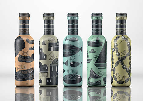 Cultural Beverage Branding - This Country-Themed Visual Branding Identity is Vivid and Eclectic