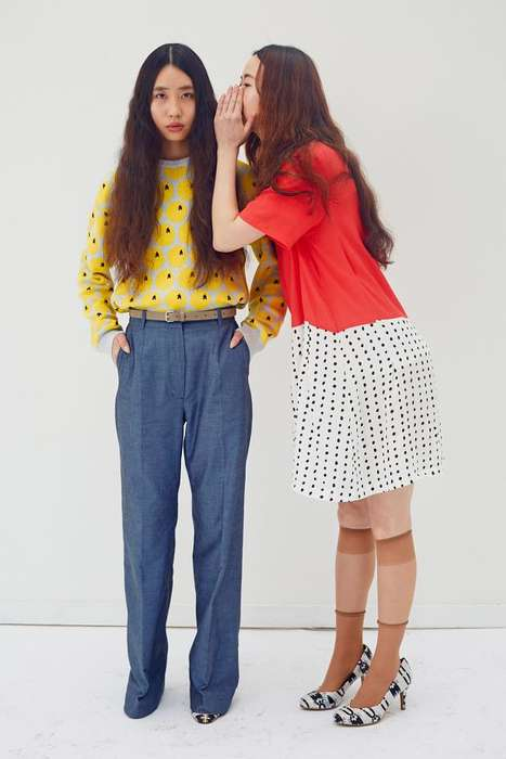 Hippie Asian Fashion - The Peter Jensen Resort 2015 Collection is Inspired by Yoko Ono