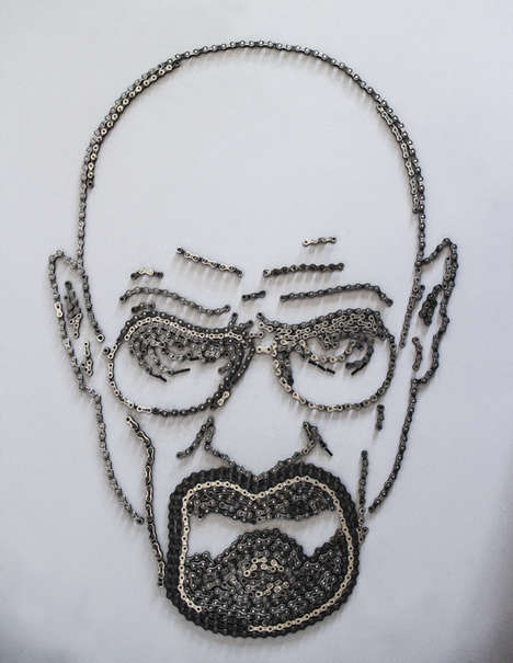 Bike Chain Art - Jennifer Beatty Recreates Famous Posters Using Bicycle Parts