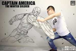 Artist Ge Kuo Draws Himself Next to His Heroes