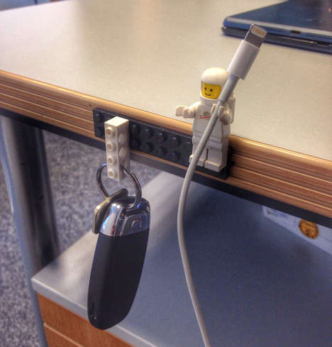 Minifig Cord Management - The LEGO Key & Cable Holder is a Geeky Do-It-Yourself Project