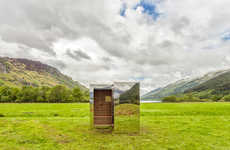 Mirrored Cuboid Cabins - 'The Lookout' Blends and Reflects the Surrounding Landscape