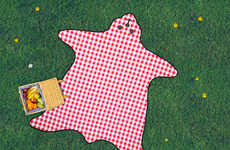 Pelt Picnic Blankets - The Bear Skin Picnic Blanket Turns Park Outings into a Fireside Experience