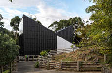 Slanted Giraffe Sanctuaries - The Giraffe House Plays with Dimension and Spatiality