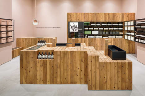 Cabin-Like Retail Stores - Torafu Architects Creates Another Aesop Store with Warm Details