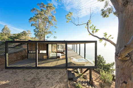Floating Skyline Havens - This Wood Cliffside Home Has Idyllic Views and is Eco-Friendly