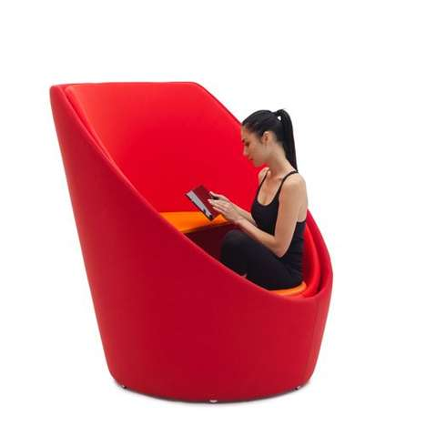Swiveling Privacy Seats - Tuttomio by Emanuele Magini is a Cozily Enclosed Workspace