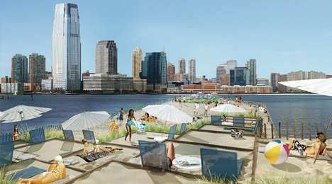 City-Centric Beaches - The City Beach NYC Project Gives New Yorkers a Break from Business
