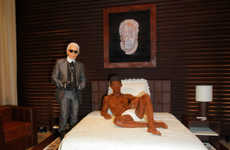 Life-Size Edible Statues - Karl Lagerfeld Creates a Chocolate Statue of Favorite Model