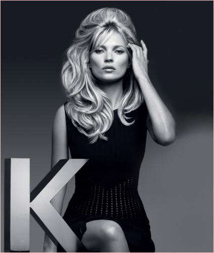 Voluminous Hair Ads - The Kerastase 2014 Couture Styling Products Campaign Stars Kate Moss