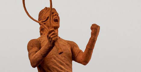 Tennis Star Statues - Nike Celebrates Rafael Nadal's Tennis Glory with a Clay Statue Creation