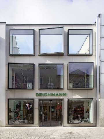Cubed Window Retailers - The Department Store by Labvert  Houses European Shoe Shop Deichmann