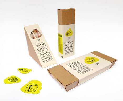 Peeking Plane Food Packaging - Antonio Dominguez
