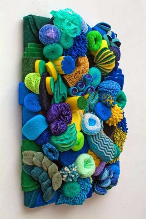 Cleaning Supply Coral Reefs - Artist Lynn Aldrich Creates a Natural Wonder Out of Everyday Objects