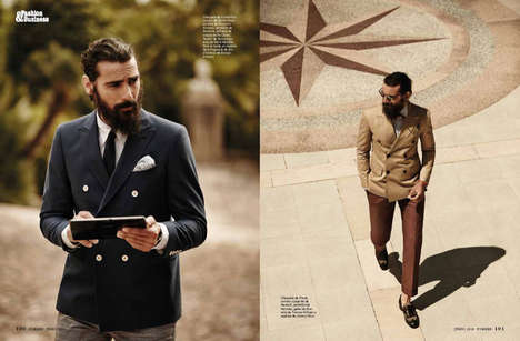 Rugged Gentleman Editorials - Forbes Spain's Arquitectura de Etiqueta Photoshoot is Debonaire