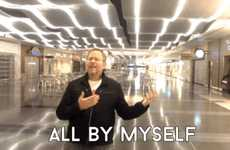 Airport Music Videos - Richard Dunn Sings 'All By Myself' During a Night at the Las Vegas Airport