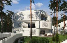 Spherical Oceanside Apartments - Kado Karim's Unique Interior Decor is Sleek and Minimalist