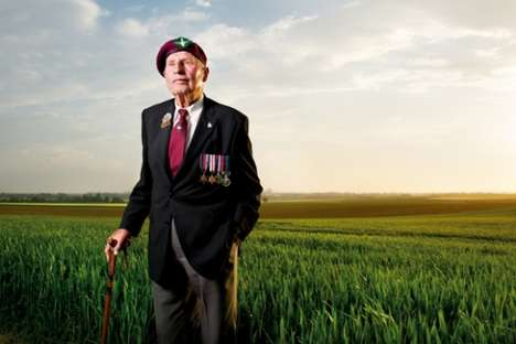 Reminiscent Veteran Portraits - Robin Savage Captured D-Day Veterans at the Locations They Fought at