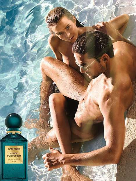 Nearly Naked Perfume Ads - The Tom Ford Neroli Portofino Fragrance Campaign Stars Josephine Skriver