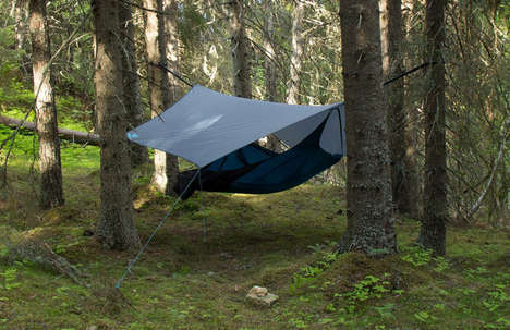 Lounging Hammock Tents - The Draumr Tent Rests Off the Ground like a Tree Swing