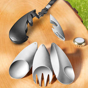 Multifaceted Camping Cutlery - This All-Inclusive Camper