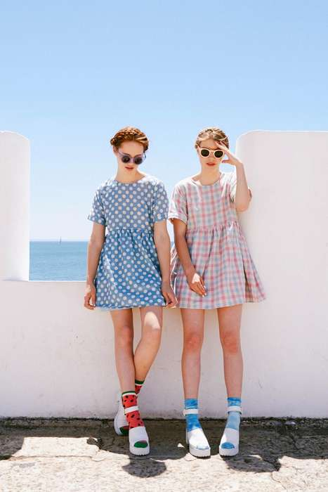 Saccharine Tourist Lookbooks - THE WHITEPEPPER Summer 2014 Lookbook Features a Retro Aesthetic