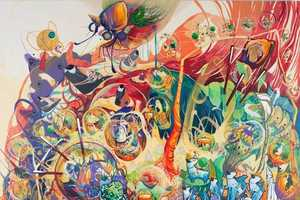 Mi Ju's Psychedelic Paintings Reflect All of Her Influences