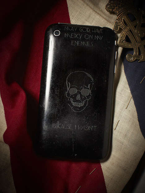 War Messages Photography - This Cell Phones Photo Series Portrays Engraved Military Messages