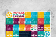 Soccer Scheduling Wall Art - This Printable World Cup Football Calendar Keeps One in Tune with Games