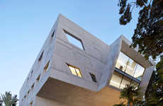 Fluid Concrete Buildings - Zaha Hadid Designed the Issam Fares Institute as a Cantilevered Structure