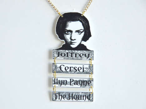 Fantasy Character Necklaces - This Necklace Commemorates Arya Stark and Her Hit List
